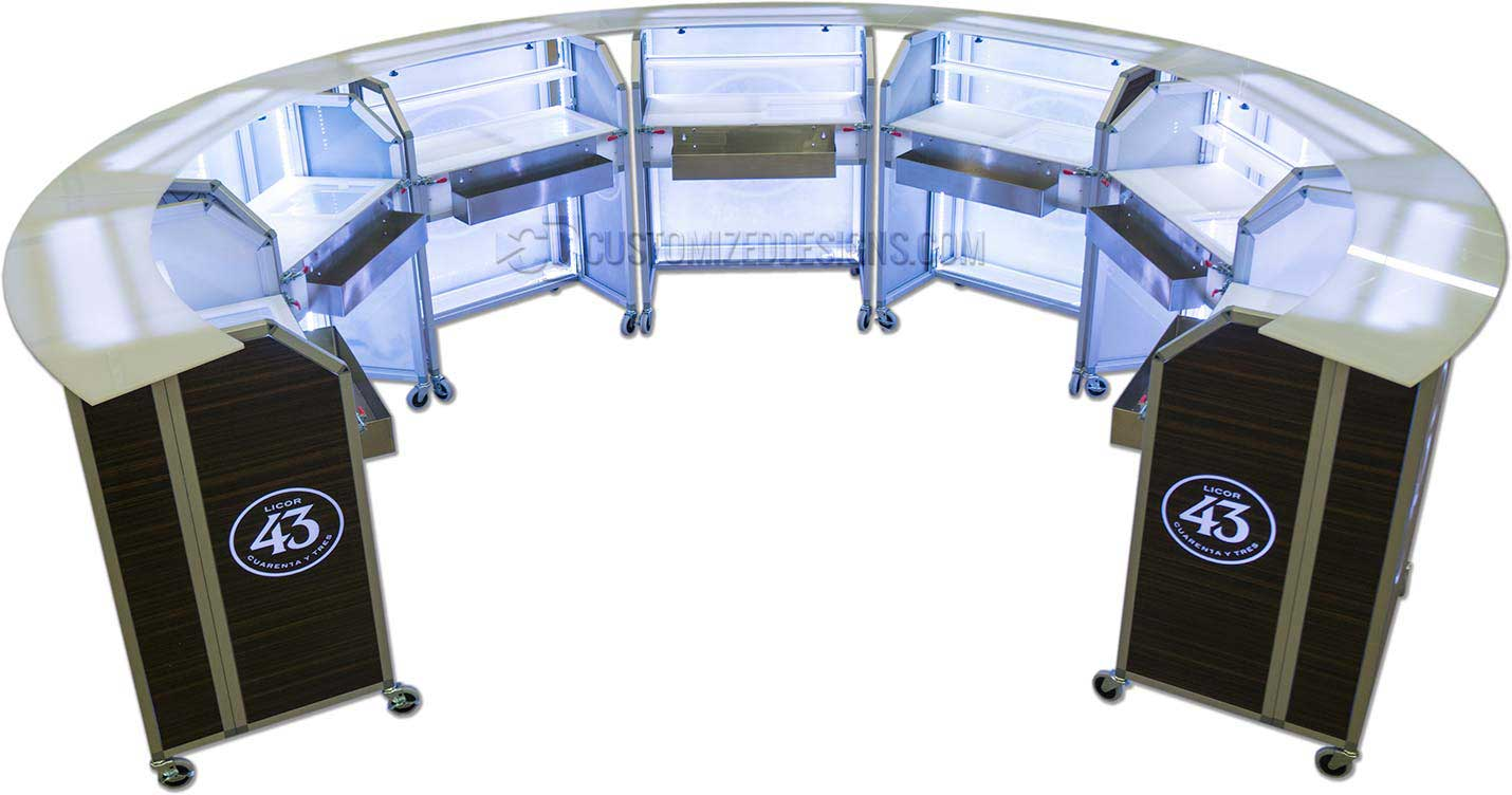 Curved Portable Bars