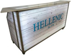 77 Portable Bar w/ Beach wood Graphics