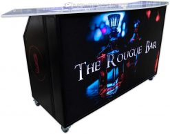 Portable Bar w/ Baton Rouge Branding & Black Frame