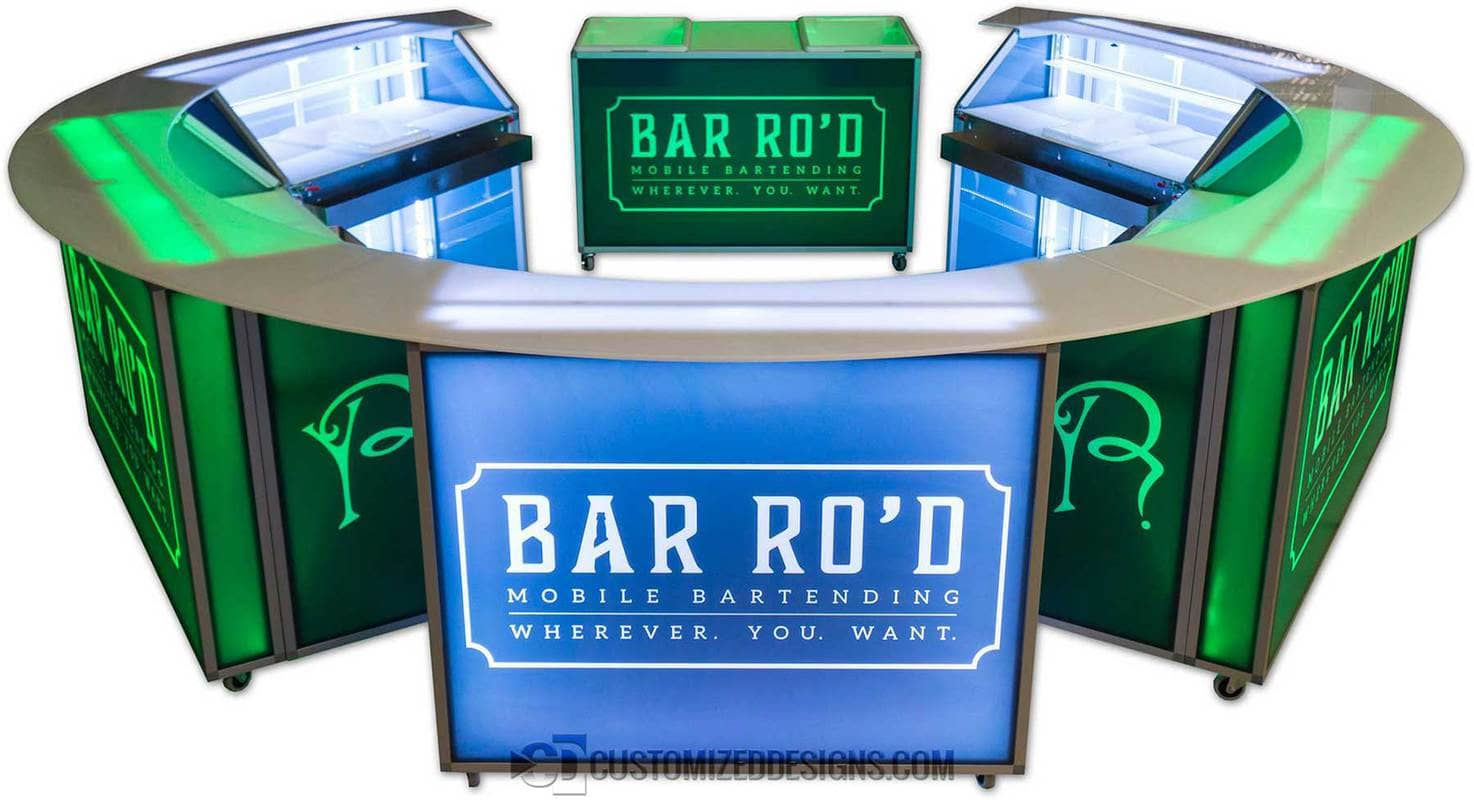LED Portable Bars 48 Inch - Circular Round Configuration
