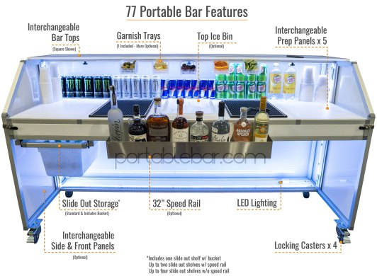77 Mobile Bar Features Back