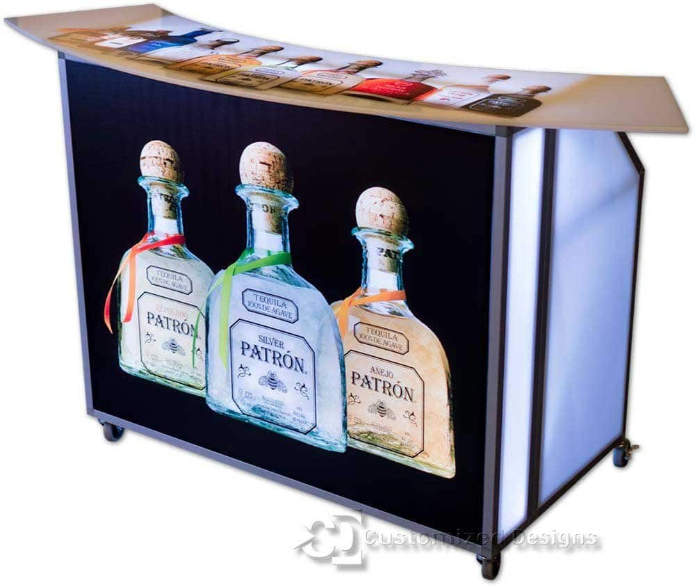 Portable Bar w/ Patron Branding