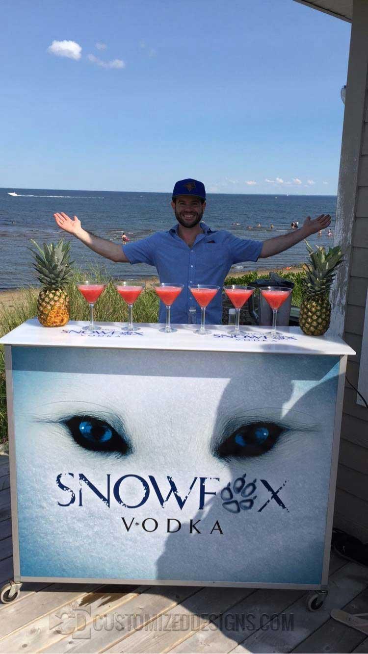 "48"" Portable Bar for Snowfox Vodka"