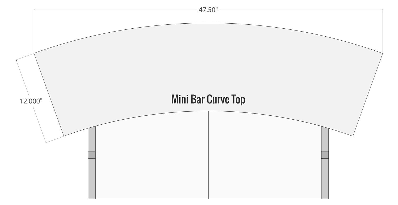 Mini Bar Curved Top