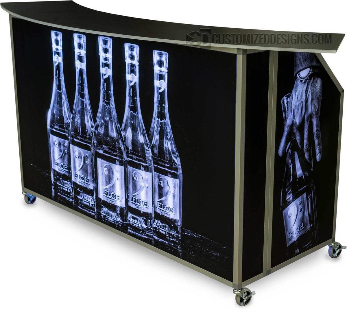 """62"""" Portable Folding Bar Floh Vodka"""