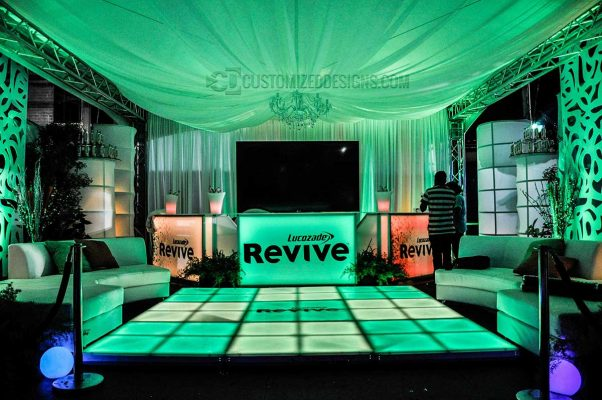 Lighted Portable Bar for Events