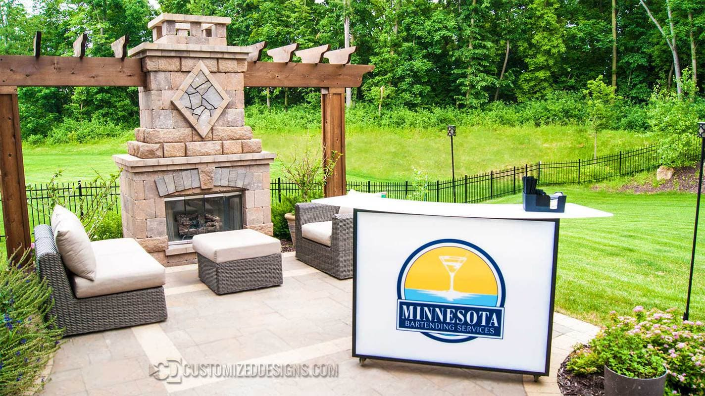 "Minnesota Bartending 48"" Portable Bar"