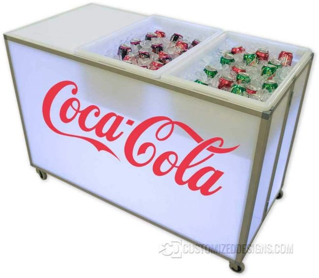 Mobile Back Bar - Beverage Cart