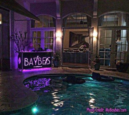 Baybe LED Lighted Portable Bar
