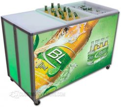Portable LED Lighted Back Bar