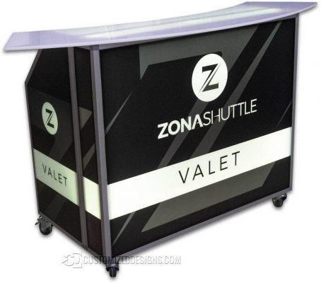 Portable Valet Booth Stand