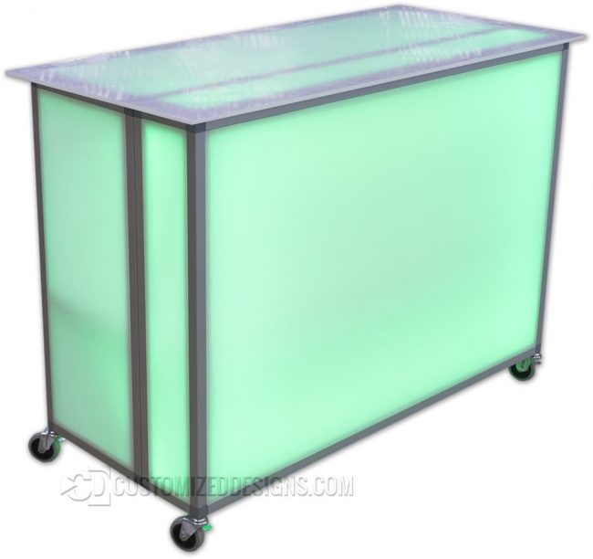 LED Lighted Promo Table - Portable Trade Show Table